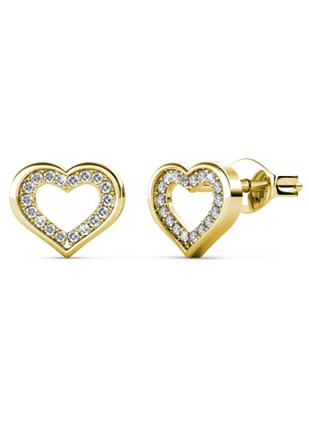Her Jewellery gold Zeal Earrings (Yellow Gold) - Made with premium grade crystals from Austria 3D7A5ACB9984F7GS_1