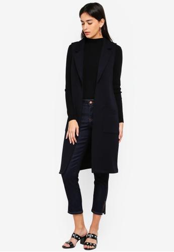 ESPRIT black Indoor Knitted Long Vest 59521AABA04811GS_1