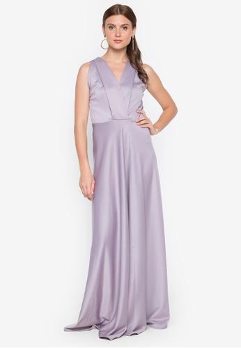 Tantease purple Marita Long Dress 55DE2AAA7E51F0GS_1
