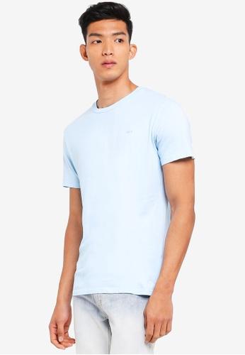 OBEY 藍色 短袖刺繡T恤 3D0F5AAD14A21EGS_1