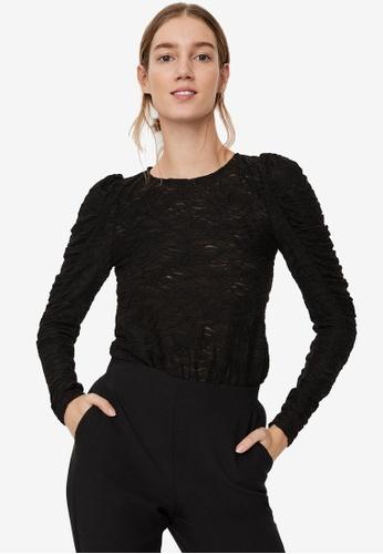 Vero Moda black Judith Lace Puff Top 59737AA93DBBF9GS_1