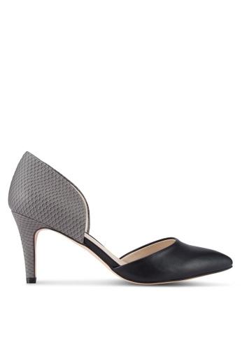 ZALORA 黑色 尖頭高跟鞋 DE90DSH02581FBGS_1