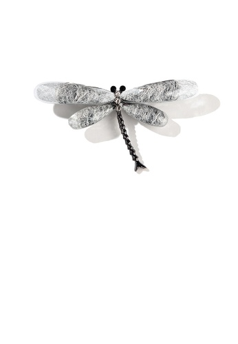 Glamorousky white Simple and Fashion White Dragonfly Brooch with Cubic Zirconia 8E7C9AC02B3063GS_1