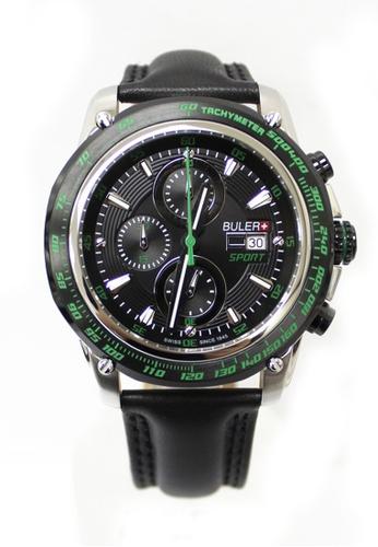 Buler black Buler Sport Watch - Black - Gents - Date - 3H 0B1BCACF2482F0GS_1