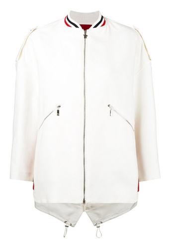 Moncler white Moncler Piene B' 2 Way Zip Jacket in White BC516AA4B42AF7GS_1
