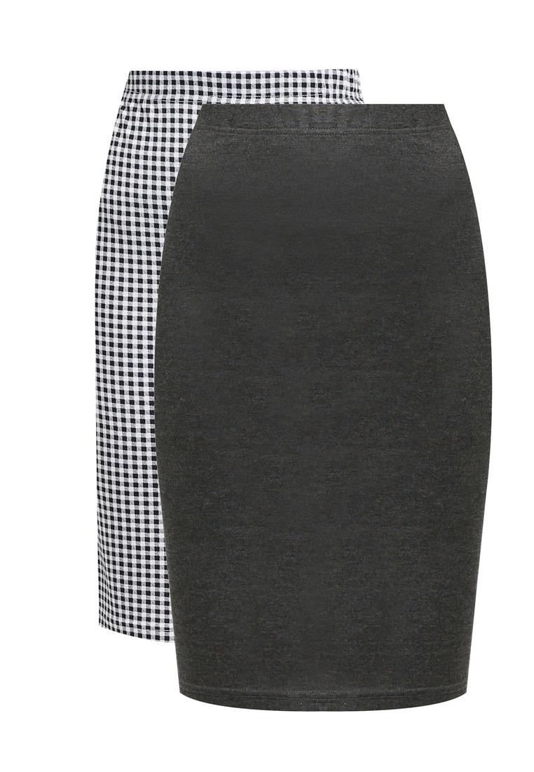 BASICS Bodycon Marl pack Grey 2 Skirt Dark Basic ZALORA Gingham Black 7HTqwA