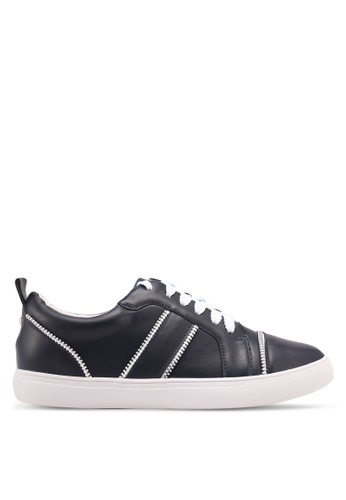 Something Borrowed blue and navy Sneakers With Zipper Details A8820SHA56CDAEGS_1