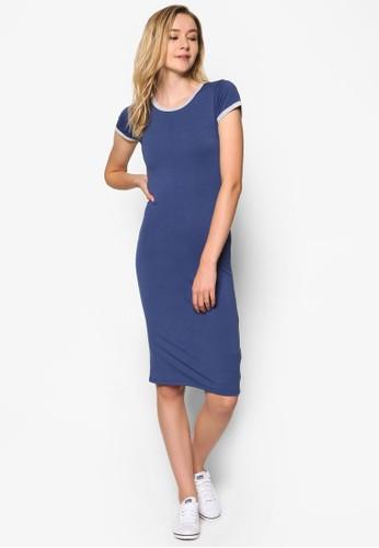 Kn Andrea 撞色滾邊短袖洋裝、 服飾、 服飾CottonOnKnAndrea撞色滾邊短袖洋裝最新折價