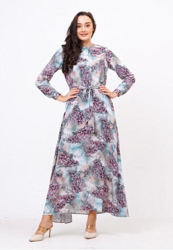Alyssa green and purple Alyssa Pretty Floral Dress Raya Edition 03CE3AA706D77FGS_1