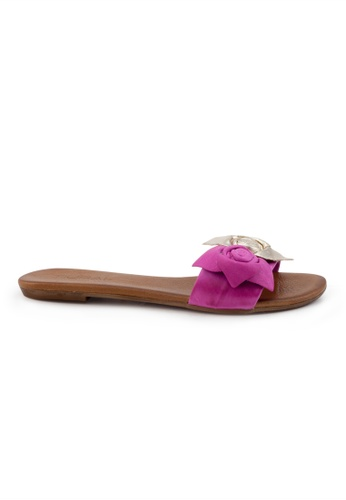 Shu Talk red Turkish Sweet Floral Leather Sandals SH617SH2VI7NHK_1