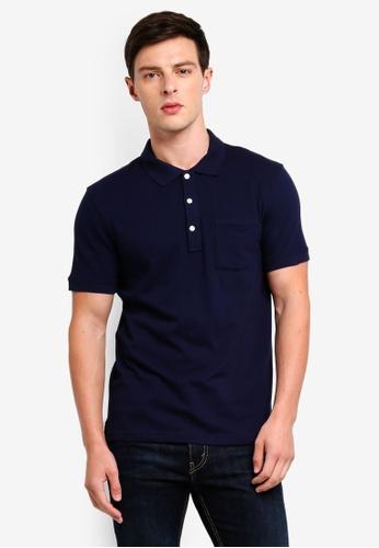 J.Crew 海軍藍色 Stretch Pique Polo Shirt 3963BAA7CF2D7DGS_1