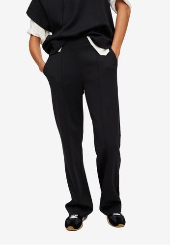 Mango black Drawstring Waist Straight Trousers 8E5DDAA6E8D998GS_1
