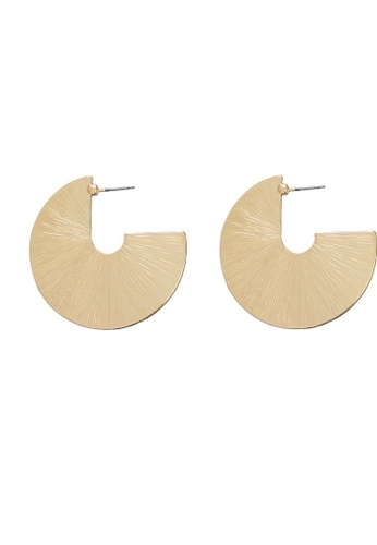 A-Excellence gold Gold Plated Statement Earrings CA61BAC7DF8CDBGS_1