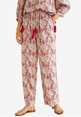 Mango white and multi Combi Print Trousers 4D678AABBDE0A3GS_1