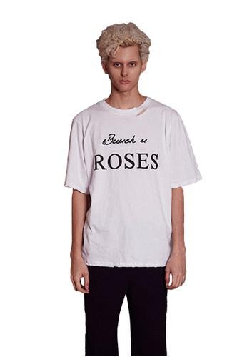17SS玫瑰刺繡白色T恤, 服飾esprit 尖沙咀, 上衣