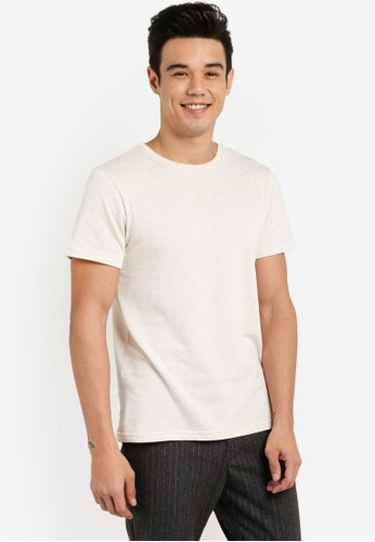 ZALORA white Speckled Knit Slub Tee BDC47AA272856FGS_1