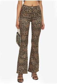 Moto Leopard Jamie Flare Pants