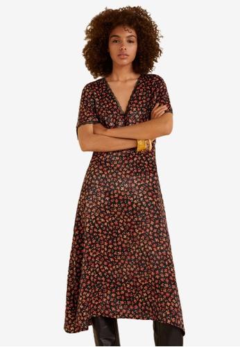 Mango black Floral Lace Dress B5DD4AA227631EGS_1