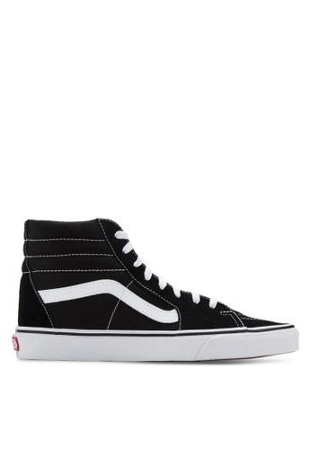 VANS black and white Core Classic SK8-Hi Sneakers VA142SH37NEWSG_1