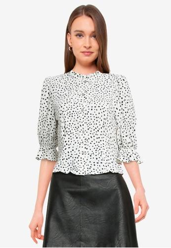 Miss Selfridge white Ivory Grandad Collar Shirt 807D4AADCB2118GS_1