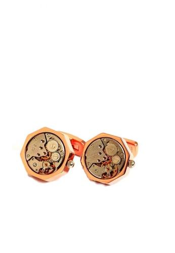 Kings Collection gold Mechanical Movement Watch Cufflinks 9FC51ACAB14E48GS_1