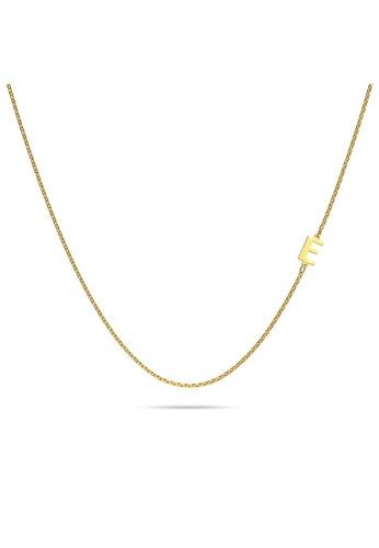 Bullion Gold gold BULLION GOLD Dainty Alphabet Letter Necklace Gold Layered Steel Jewellery - E 862C8AC2F9B110GS_1