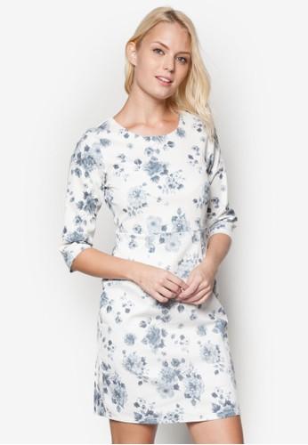 花卉七esprit hk分袖洋裝, 服飾, 洋裝