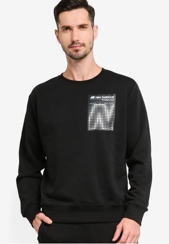 New Balance black Sport Style Optiks Sweatshirt 5EAD8AAF5611E5GS_1