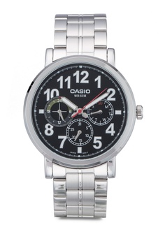 4dfc935eb01 Casio silver Black Dial Stainless Steel Watch CA843AC85LOSMY 1