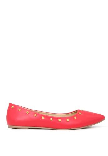 London Rag 紅色 时尚芭蕾舞鞋 SH1703 F7A83SH819F5B9GS_1