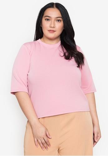 Timeless Manila pink Plus Size Astraea Shirt Blouse 2B0F5AA201FBA0GS_1