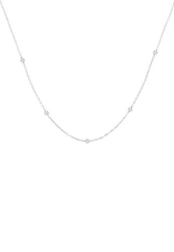 Khoe 白色 Khoe 18K白金鑽石吊咀頸鏈 1280DAC50B7EEBGS_1