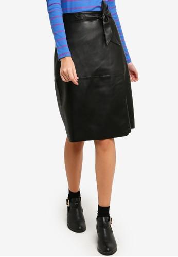 ESPRIT black Faux Leather Midi Skirt 0AFD1AA3EDC713GS_1