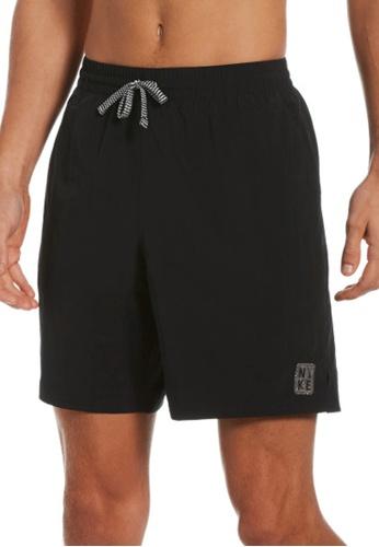 "Nike black Nike Swim Men's Solid Icon 7"" Volley Short 593D9US6377197GS_1"