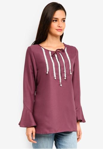 BYN purple Muslimah Blouse 48075AA301EC0EGS_1
