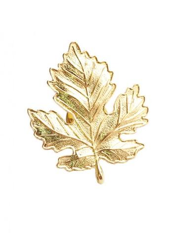 Splice Cufflinks silver Gold Leaf Lapel Pin SP744AC72FSDSG_1