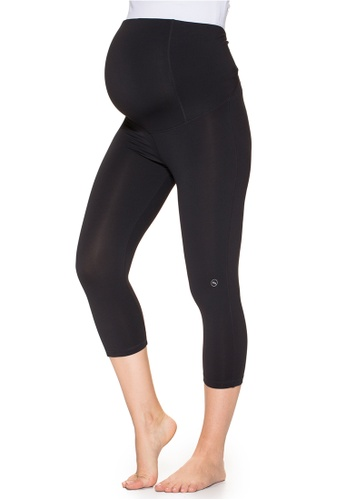 Mayarya black Over Belly Capri Active Pants 2F3DBAA57CB35CGS_1