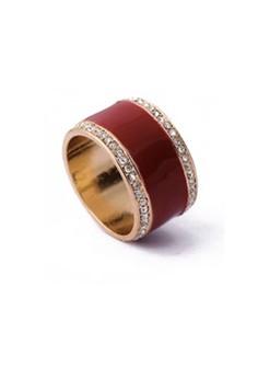 Enamel Ring – Maroon
