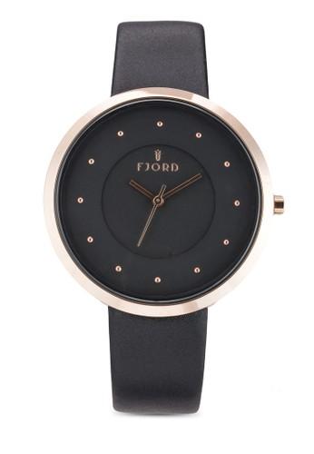 LAURENS 三指針皮革esprit 門市錶, 錶類, 飾品配件