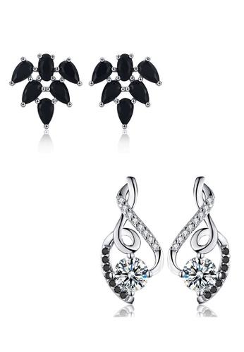 A-Excellence white Premium Elegant White Silver Earring Set 35BF9AC06D8433GS_1