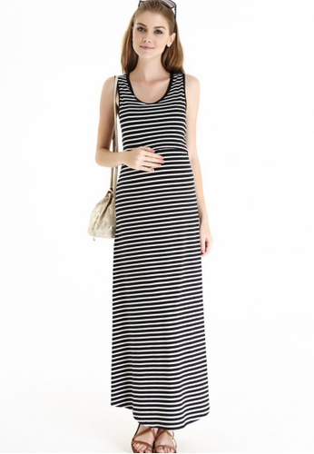 Bove by Spring Maternity black Knitted Sleeveless Alyssa Maxi Dress SP010AA23AQESG_1