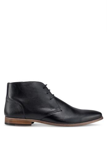 Topman black Black Delta Chukka Boots 07576SH950D18FGS_1
