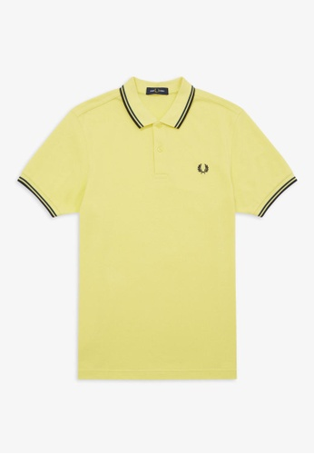 Fred Perry yellow M3600 - Twin Tipped Fred Perry Shirt - (DAFFODIL/PETROL DREAMS/NAVY) EEA1CAAAEE4B0EGS_1