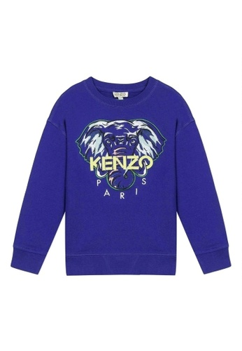 KENZO KIDS blue KENZO BOYS SWEATSHIRT 02E21KA8FAE2BCGS_1