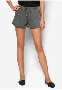 Basic Curved Hem Jogger Shorts