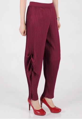 Meitavi's Plisket Tulip Pants - Maroon