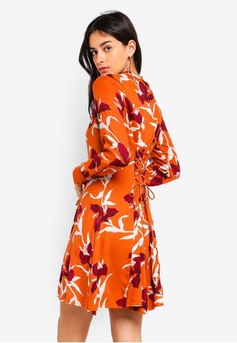 Y.A.S orange Irisa LS Dress AA639AA2AD49DEGS_1