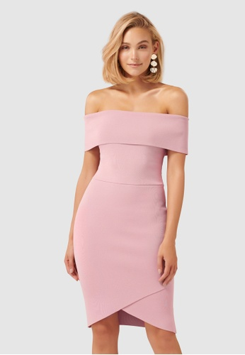 b2139571530 Buy Forever New Opal Bardot Knit Dress Online on ZALORA Singapore
