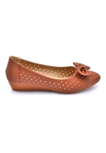 LENO brown Candy Ballet Flats (LS36601) LE122SH0RQLMMY_1