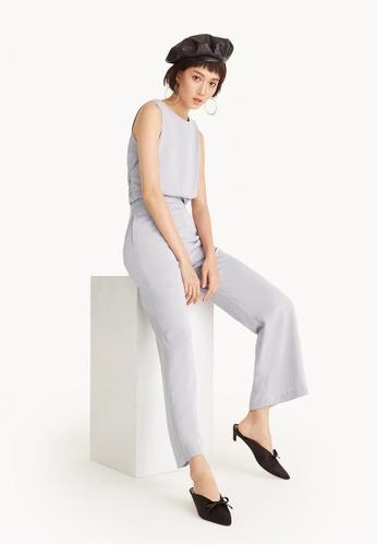 Pomelo blue High Waist Straight Pants - Lavender FAE5FAA54EEC0CGS_1